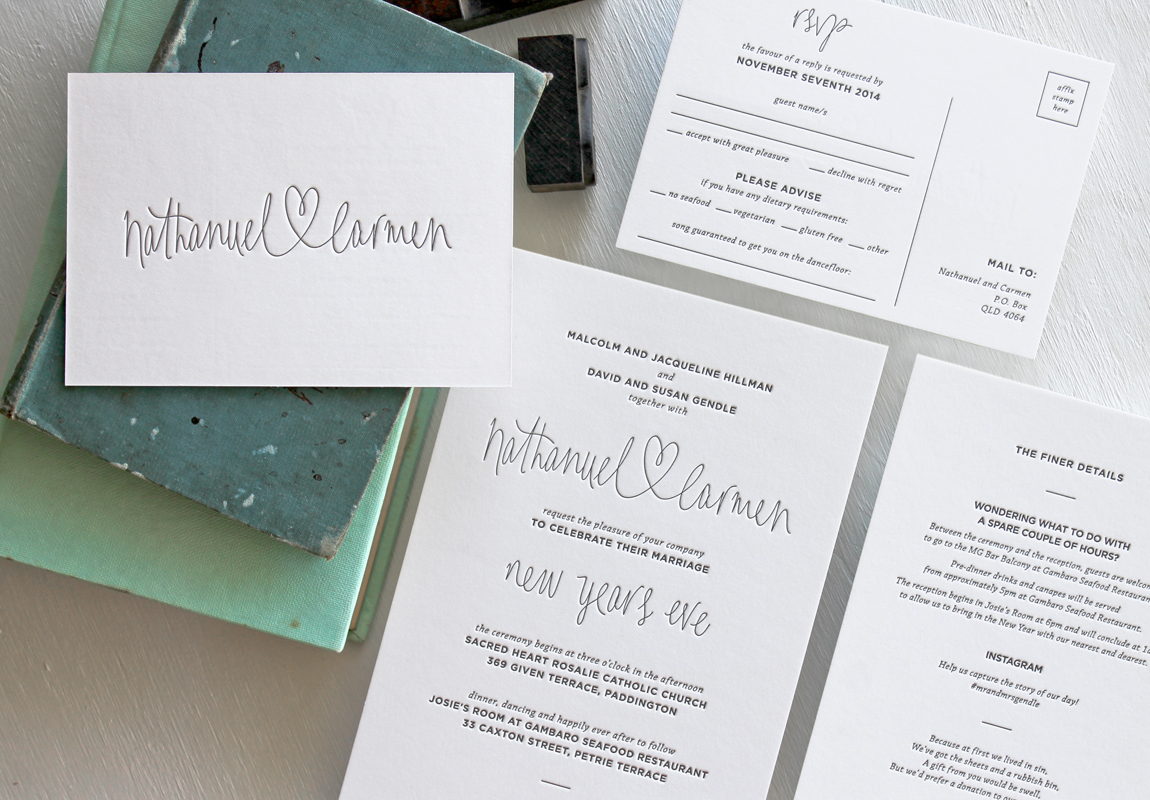 Signature Collections - Yesterday Creative — Letterpress and Foil ...