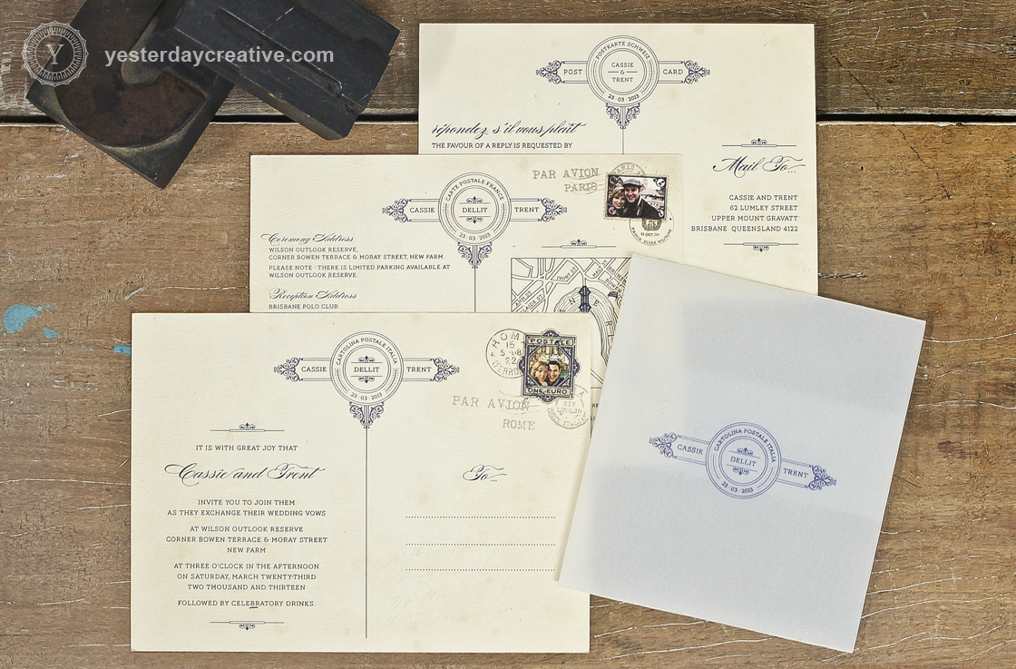 Cassie & Trent - Yesterday Creative — Letterpress and Foil Wedding ...