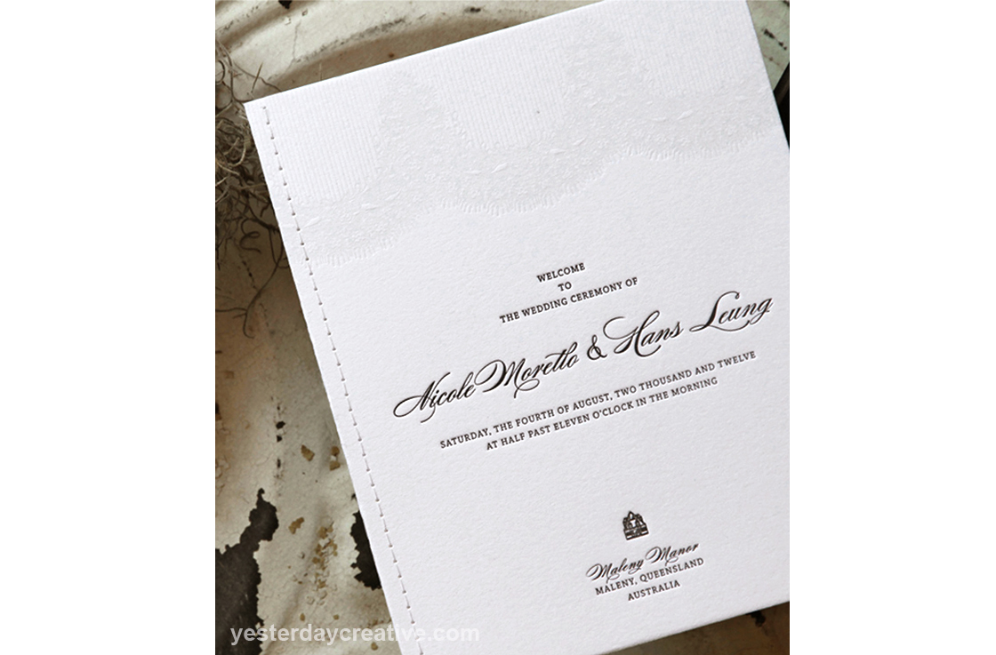 Nicole & Hans - Yesterday Creative — Letterpress and Foil Wedding ...