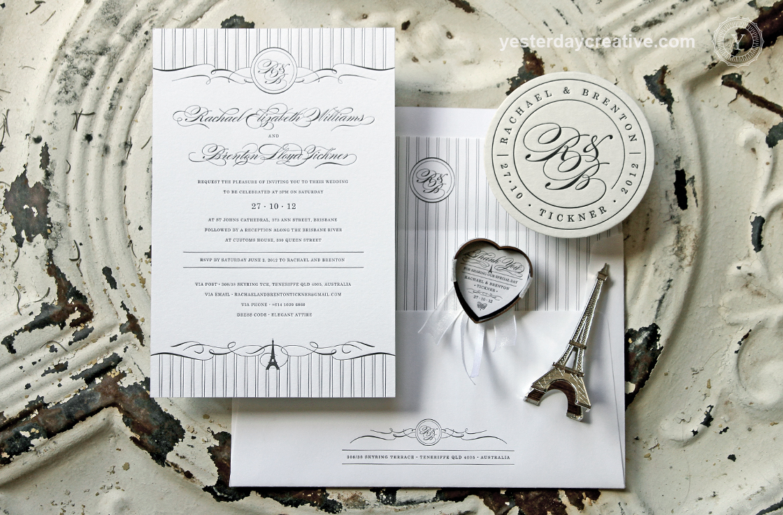 Rachael&Brenton-letterpress-paris-wedding-invitations - Yesterday ...