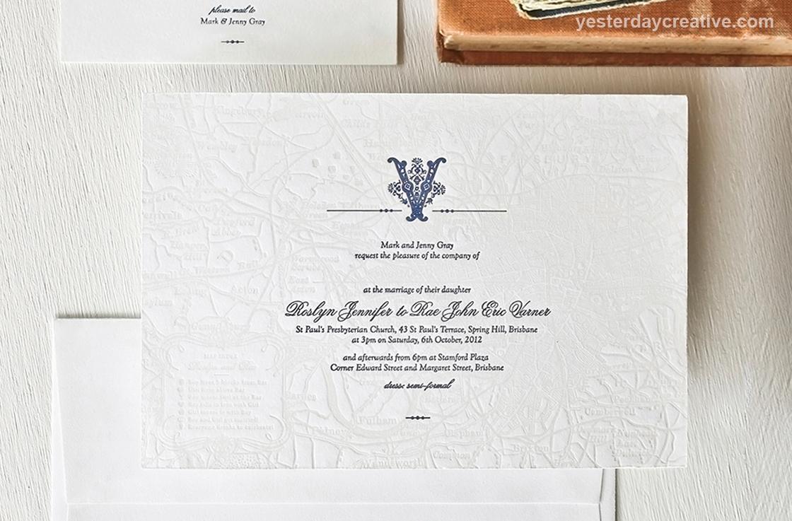 Custom Wedding Invitations - Yesterday Creative — Letterpress and ...