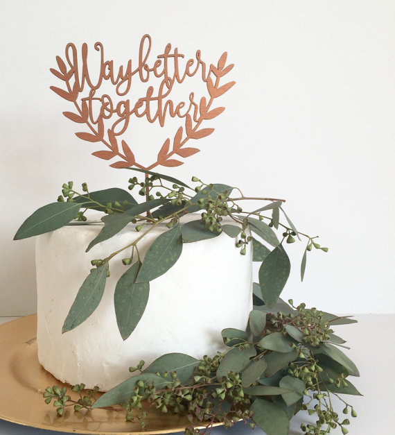 Copper Wedding Cake Topper - Copper & Gold Wedding Styling Inspiration - Yesterday Creative Letterpress - Blog