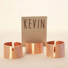 Copper Place Card Holders - Bride & Groom - Copper & Gold Wedding Styling Inspiration - Yesterday Creative Letterpress - Blog