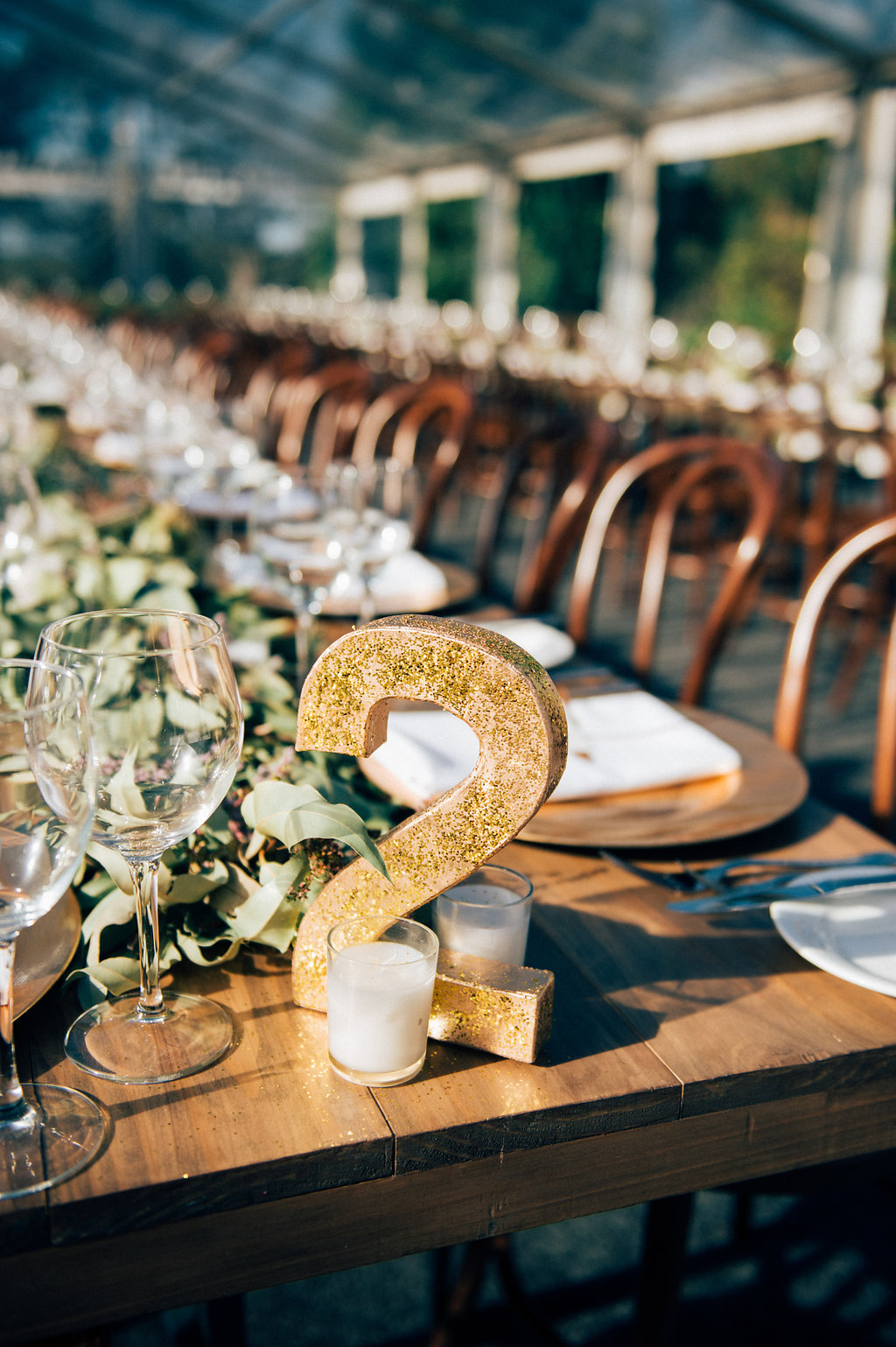 10 ways to bring copper and gold tones into your reception styling diy glitter table numbers copper gold wedding styling inspiration yesterday creative letterpress blog greentooth Image collections