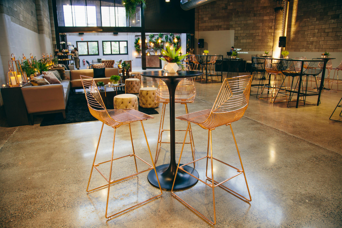 Illusion Chair Copper Wire Chair Valiant Hire - Copper & Gold Wedding Styling Inspiration - Yesterday Creative Letterpress - Blog