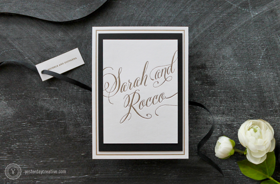 Classic — Gold & Black - Yesterday Creative — Letterpress and Foil ...