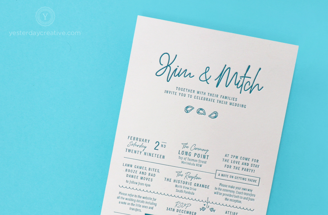 Yesterday-Creative-Letterpress-Coastal-Wedding-Invitations-Stationery-Details-Oysters-Pambula-The-Historic-Grange-Seafood-Script-Custom-Typeface