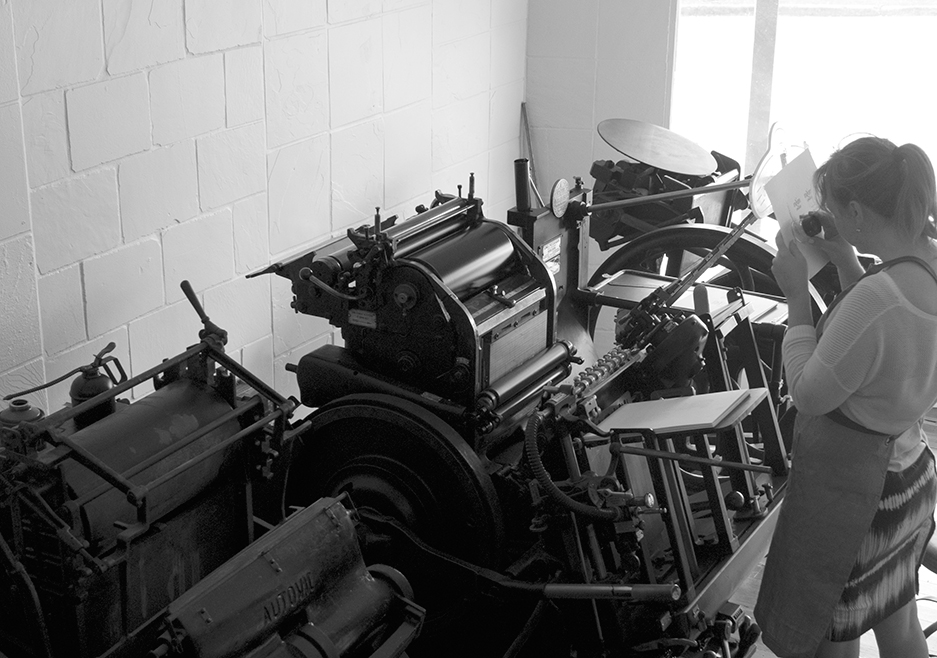 Creative Emporium printing MXM Couture business cards with new branding in Yesterday Creative Letterpress Studio