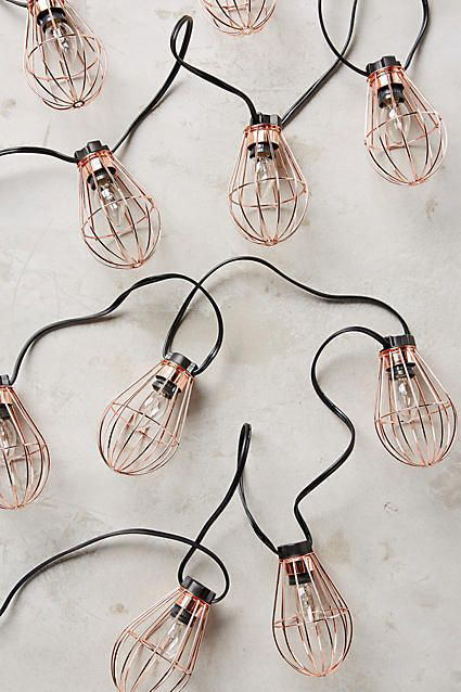 Copper Wire Festoon Lighting - Copper & Gold Wedding Styling Inspiration - Yesterday Creative Letterpress - Blog