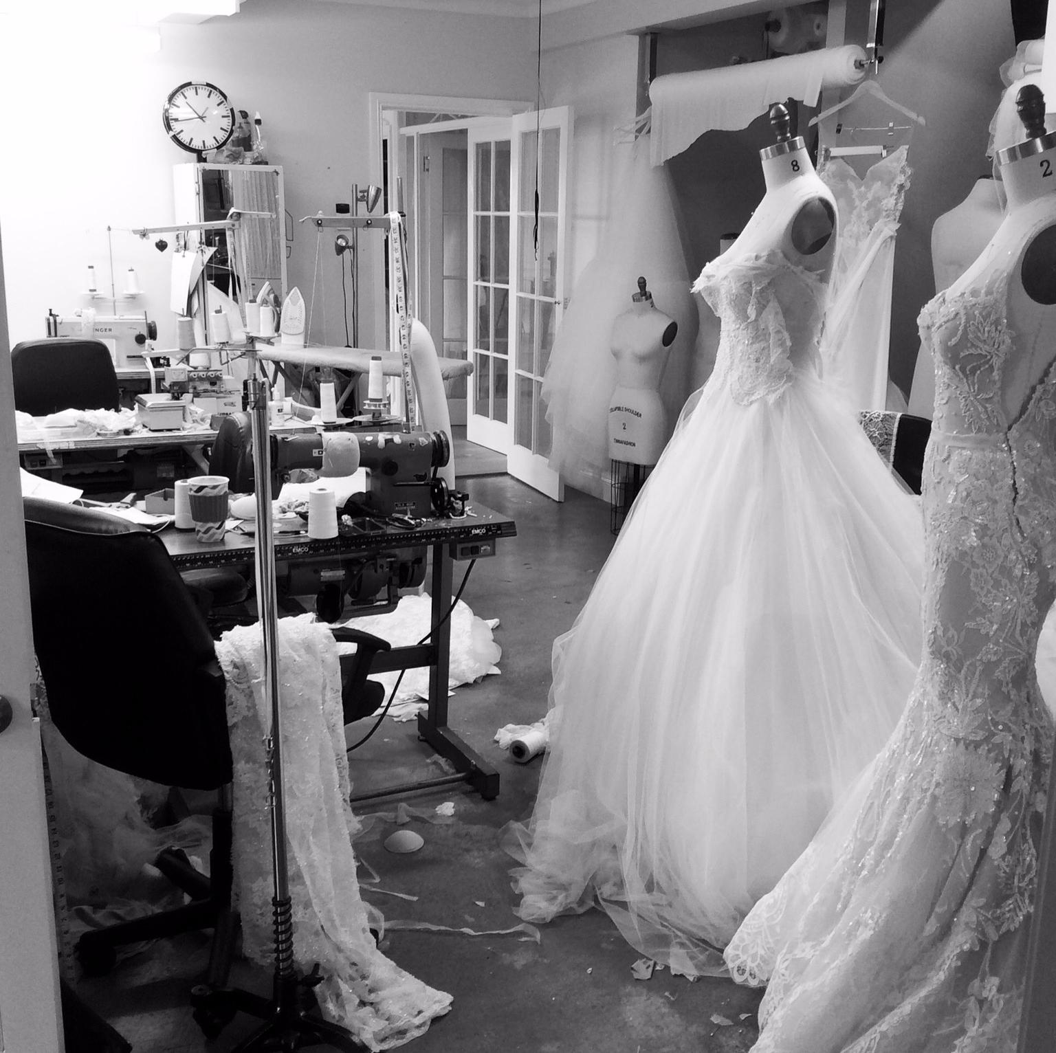 MXM Couture Weddding Dress Studio Behind The Scenes Yesterday Creative Letterpress Blog Post
