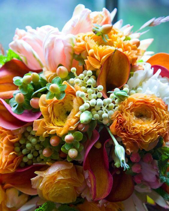 Martha Stewart Weddings Copper Floral Bouquet - Copper & Gold Wedding Styling Inspiration - Yesterday Creative Letterpress - Blog