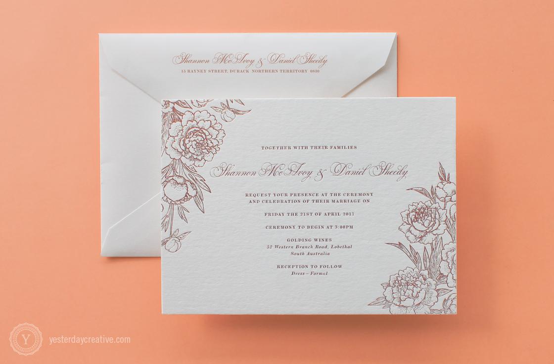 Shannon&DanielYesterdayCreativeLetterpressStationery_RoseGoldFoil_WeddingInvitation