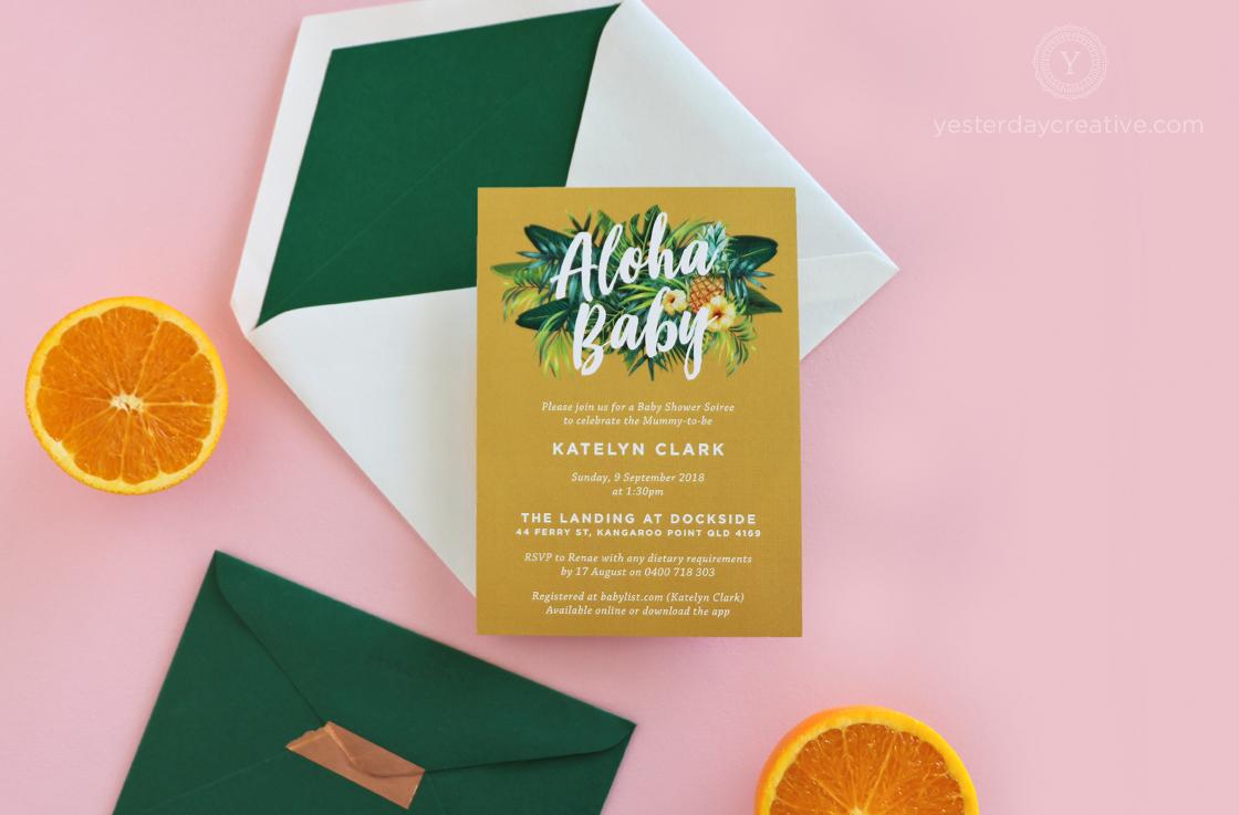 Yesterday Creative Aloha Baby Shower Tropical Themed