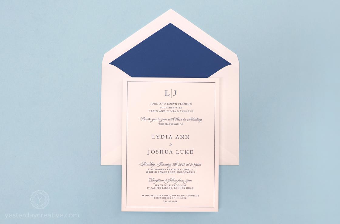 Yesterday Creative Letterpress Wedding Stationery Invitations Modern Rose Details Card Digital Flowers Floral Style Envelope Liner